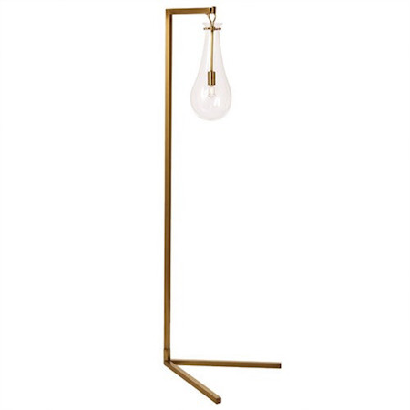 Arteriors Sabine Iron Glass Floor Lamp Look for Less