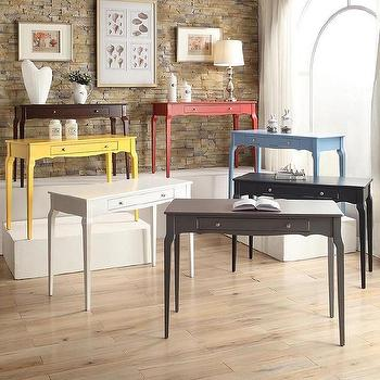 Daniella One Drawer Wood Accent Office Writing Desk