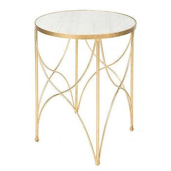 Halmstad Side Table in Gold by Aidan Gray