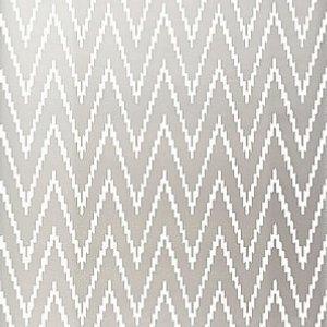 Schumacher Kasari Ikat Silver Wallpaper