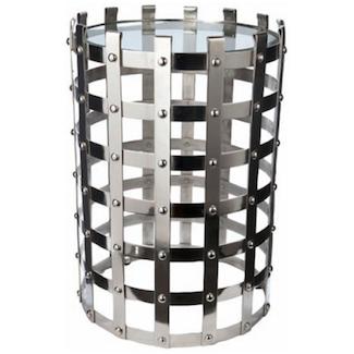 Zinc Door Metal Strap Table Look for Less