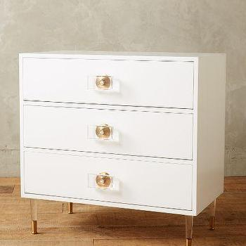 Lacquered Regency Three Drawer Dresser