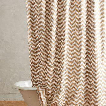 Radiant Chevron Shower Curtain