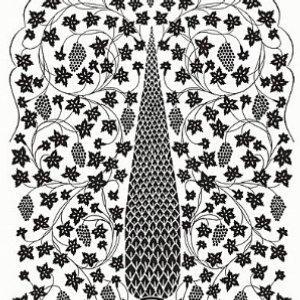 Schumacher Mughal Panel Noir Wallpaper