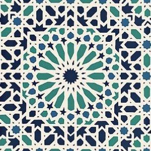 Schumacher Nasrid Palace Mosaic Aegean Wallpaper