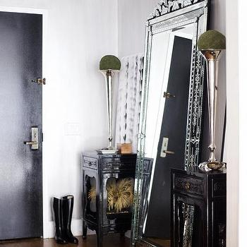 Foyer with Venetian Floor Mirror