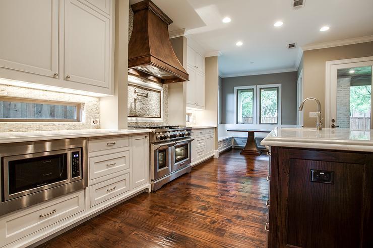 Kitchen With Window Backsplash Transitional Kitchen