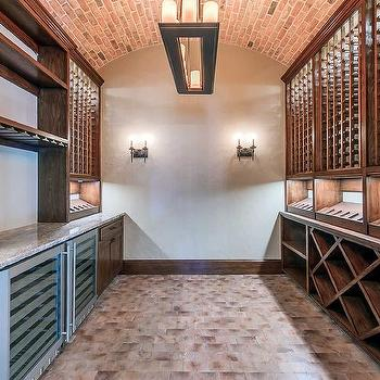 Brown Wine Cellar Cabinets Design Decor Photos