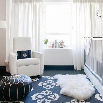 Nursery with Black and White Rug, Transitional, Nursery