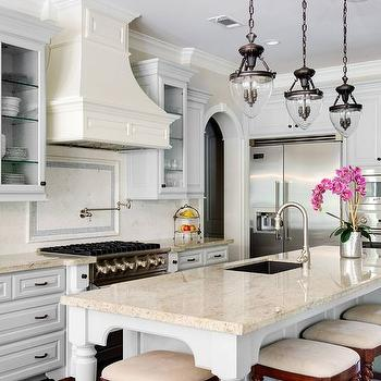 Gray French Kitchen Design French Kitchen