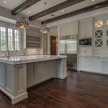 Kitchen with X Mullion Cabinets, Transitional, Kitchen
