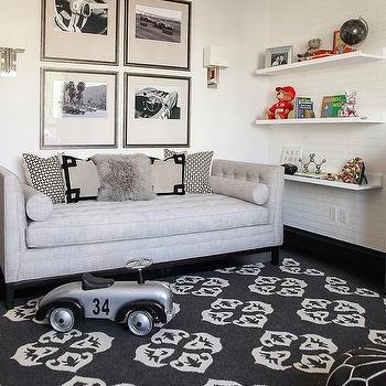 Nursery with Lounge, Transitional, Nursery