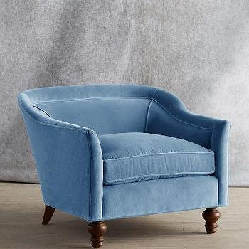 Velvet Holloway Armchair