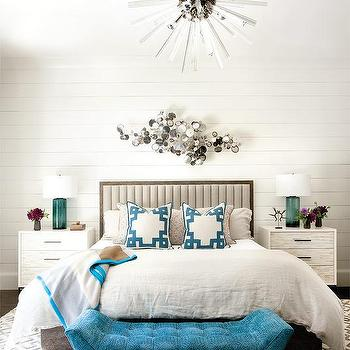 Over the Bed Chandelier, Contemporary, Bedroom