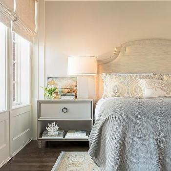Bedroom with Gray Nightstand, Transitional, Bedroom