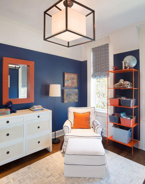 Navy and orange boys bedrooms contemporary boy 39 s room for Bedroom orange paint ideas