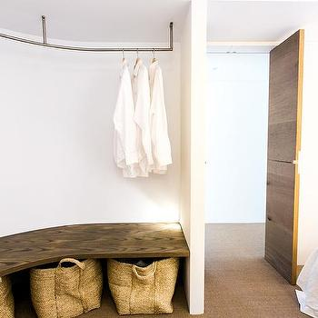 Bedroom with Curved Closet, Cottage, Bedroom