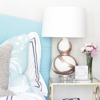 Rose Gold Brush Stroke Lamp, Contemporary, Bedroom