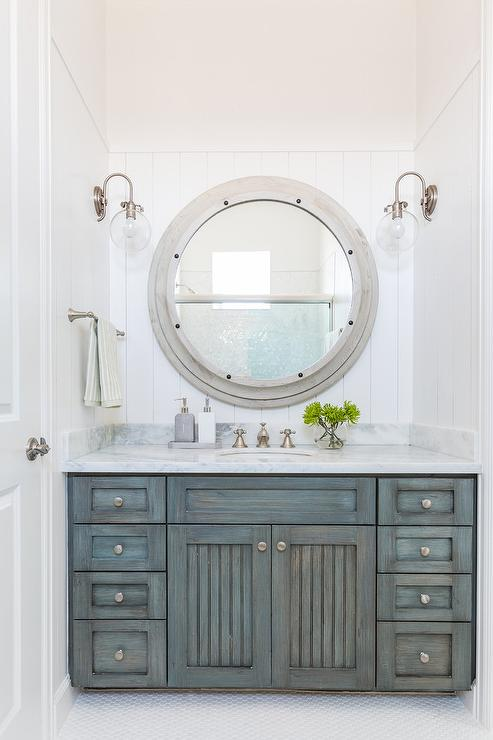 Gray Cottage Bathroom Design Cottage Bathroom