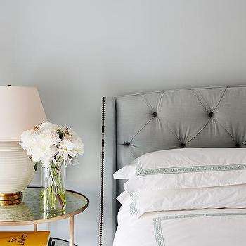 Grey Greek Key Duvet and Shams, Transitional, Bedroom