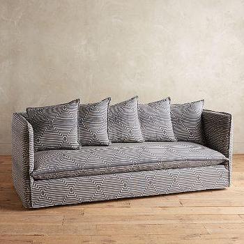 Striped Carlier Slipcover Sofa
