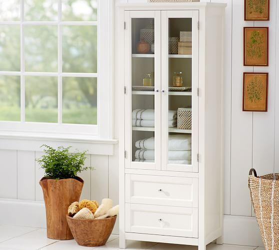 Classic Linen Closet In White