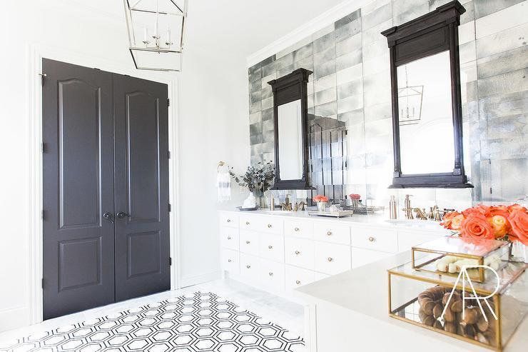 Backsplash mirror tiles