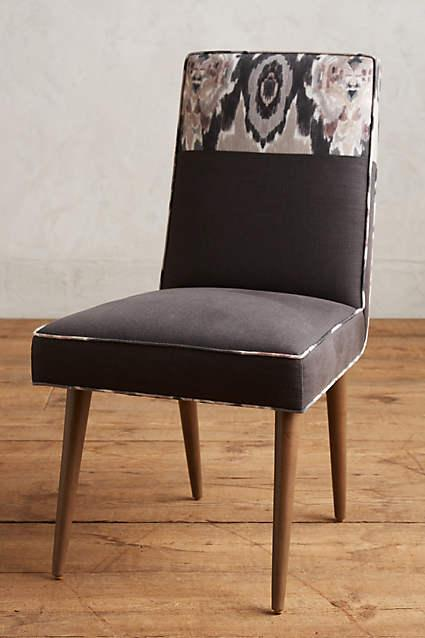 Stretched Brown Ikat Zolna Dining Chair