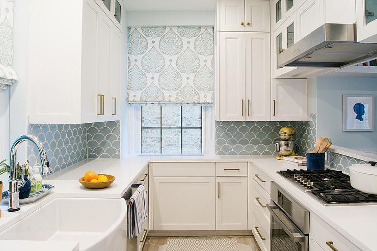 Blue kitchen backsplash tile - aunt-sue.info on