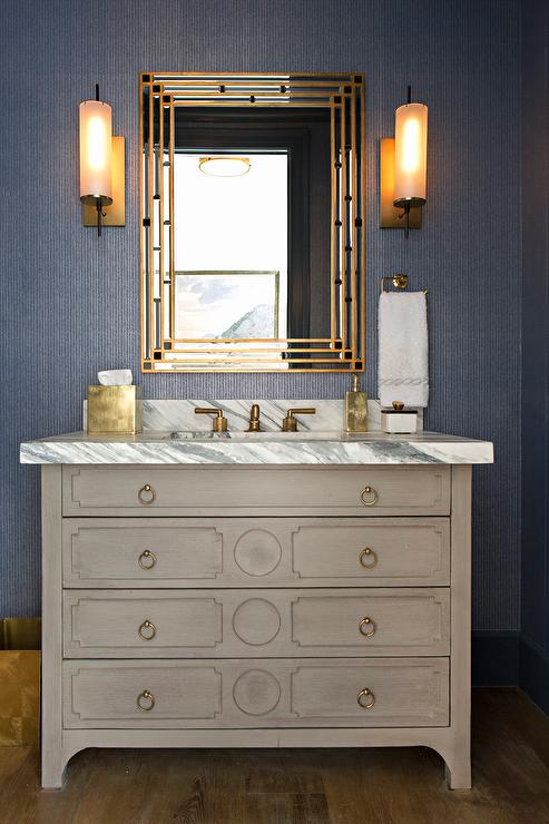French bathroom vanity
