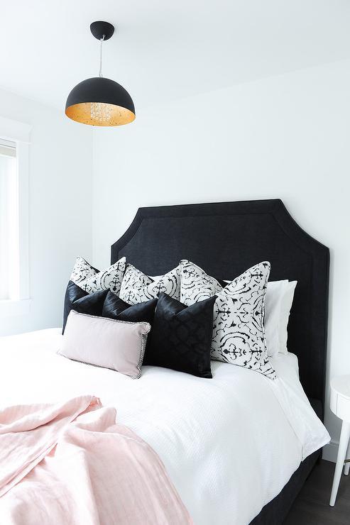 White bedding with black trim