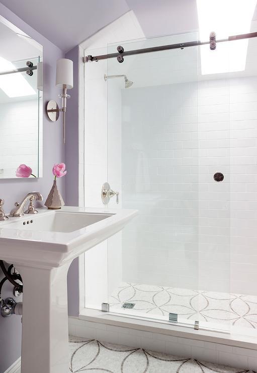 Gray Subway Tile Bathroom Contemporary Bathroom Linda Yowell Architects
