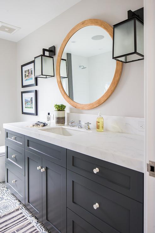 White shaker bathroom vanity