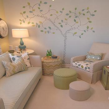 Tree Stencil for Wall, Transitional, nursery, Sarah Richardson Design