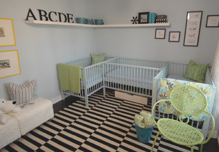 Nursery For Triplets Contemporary Nursery Sarah