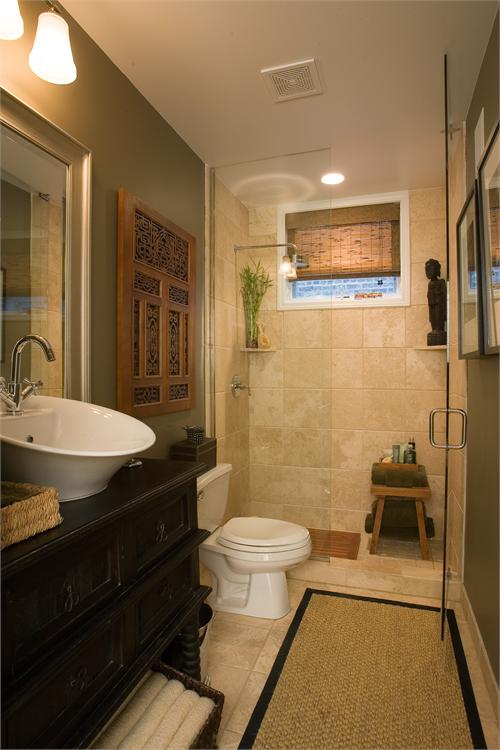 Zen bathrooms asian bathroom hgtv for Asian style bathroom designs