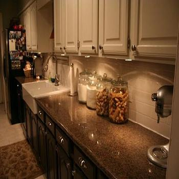 upper cabinet lighting. White Upper Cabinets Dark Lower Cabinet Lighting