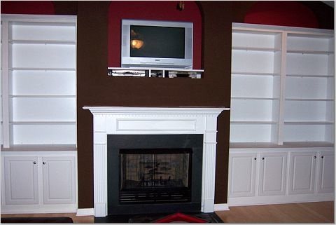 Living Room Built Ins. Laurau0027s Living Room Ikea Billy ...