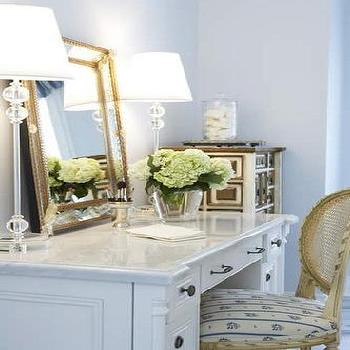 Gold Beveled Mirror, Transitional, bedroom, Kimberley Seldon Design Group