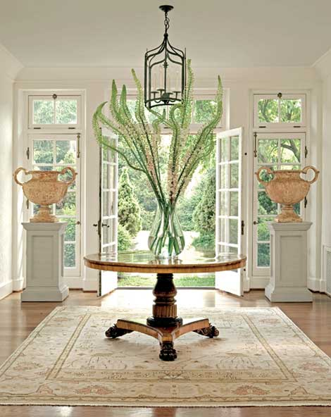 Large Foyer Table Round : Foyer ideas transitional entrance