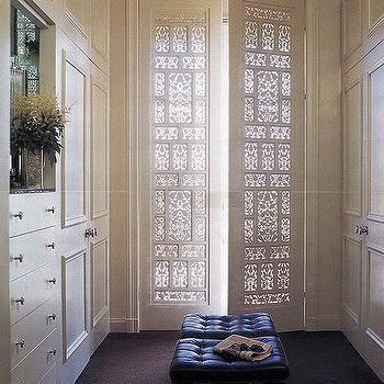 Lattice Doors, Transitional, closet, Fisher Weisman Interior Design