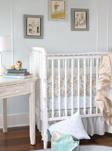 All white nursery : Shabby chic baby boy nursery