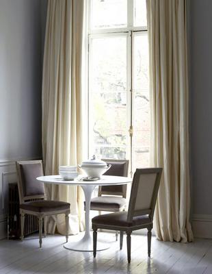 Cream Silk Curtains