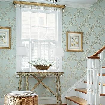 Wallpaper for Foyer, Cottage, entrance/foyer, Thibaut Design