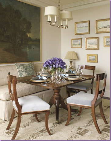 Skirted Dining Bench - Traditional - dining room - Phoebe Howard