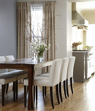 Low Back Dining Chairs Transitional Dining Room