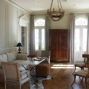 Wood Herringbone Floor, Transitional, living room, Magnolia Custom Homes