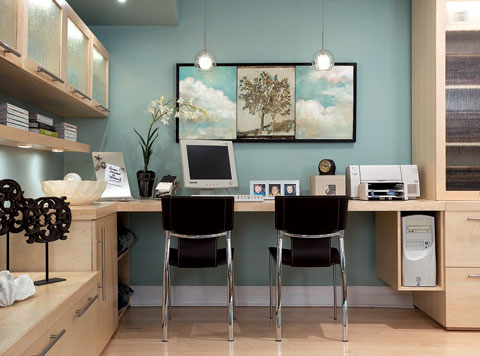 colors for office walls. candice olson divine design turquoise blue modern office desk area for two birch cabinets and leather chairs green colors walls e
