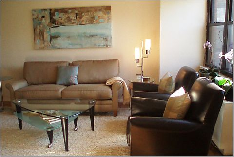 Taupe sofa transitional living room teresa meyer for Taupe couch decor