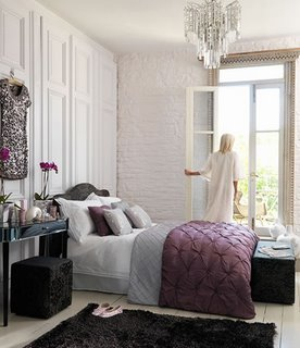 purple gray bedroom decor